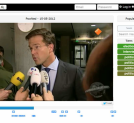 SocialZap, a multimedia search engine that finds the most interesting fragments, zap points, in a television broadcast based on microblog posts and socially tagged photos